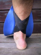 shinfin: straps cross over just above your ankle