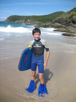 shinfin boogie/bodyboarding fins: Easier to walk into the water